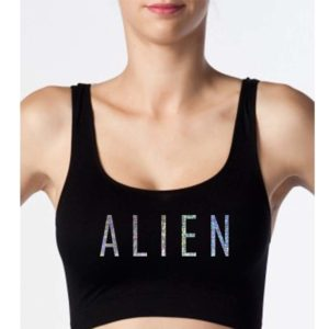 Holographic Alien Crop Tops - Bralettes - Seamless Lingerie